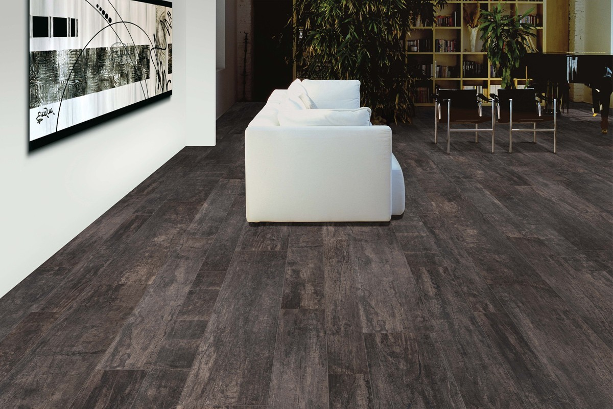 Carrelage imitation parquet nadi carbone 20x120 for Carrelage parquet