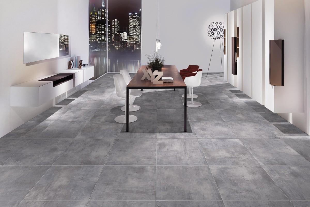 Carrelage intérieur contemporain - Nice Grigio 60x60 Ceramiche CRZ64