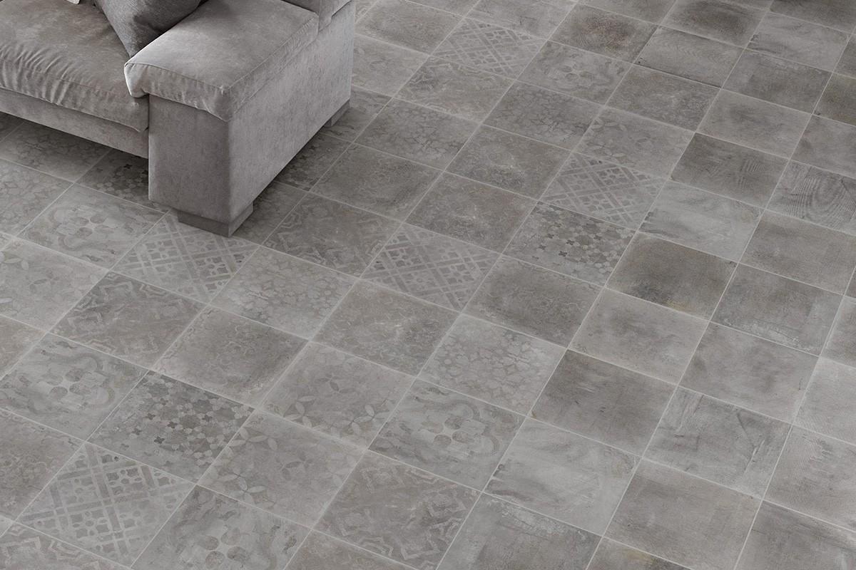 Gres effetto cemento grigio italiangres - Rimuovere cemento da piastrelle ...
