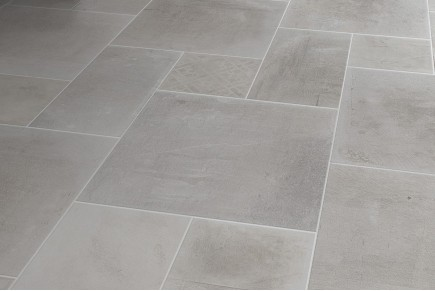 Concrete effect floor white