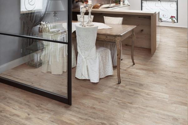 Wood effect floor tiles tortora