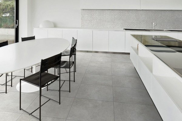 Concrete effect floor pearl