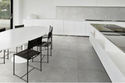 Concrete effect floor pearl