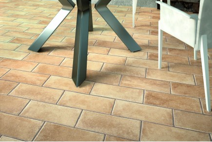 Terracotta effect floor tiles torre Sandblasted