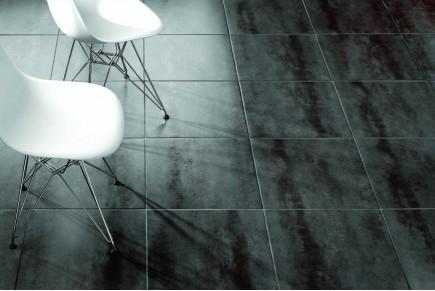 Grès effet ciment noir