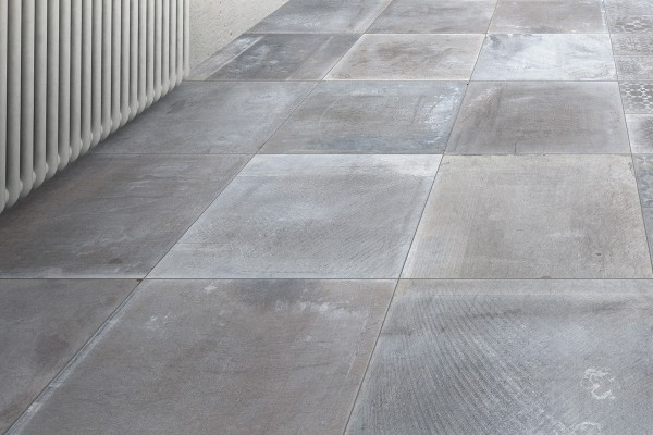 Concrete effect floor grey smoke