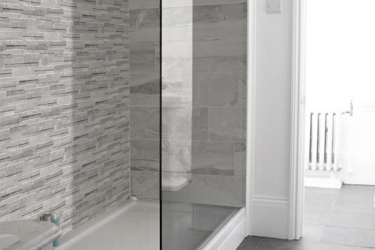 Gr s c rame m lange gris clair con 4003 16x40 for Carrelage gres cerame gris clair