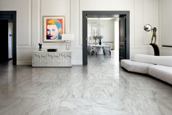Marble effect tiles - Grey melange