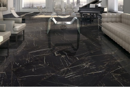 Marble effect tiles - Anthracite