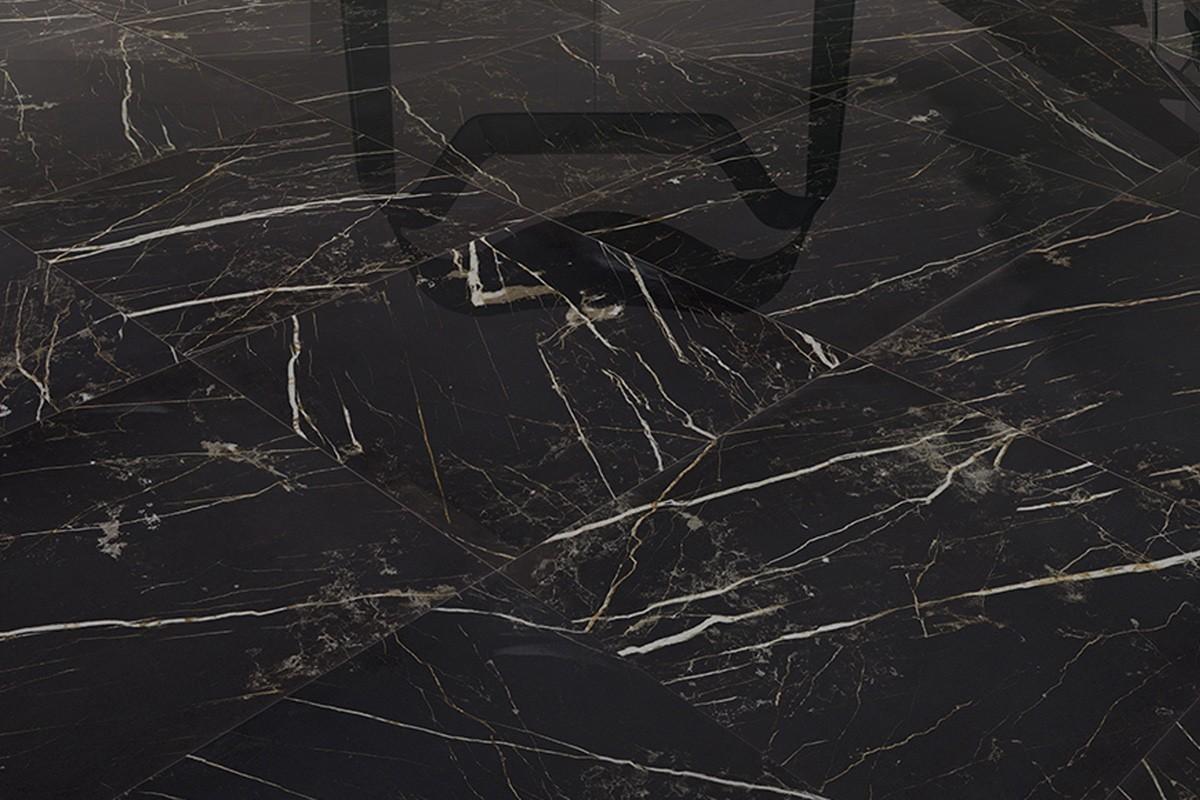 Gr s c rame effet marbre noir ca 7003 59x59 nat for Carrelage en marbre noir