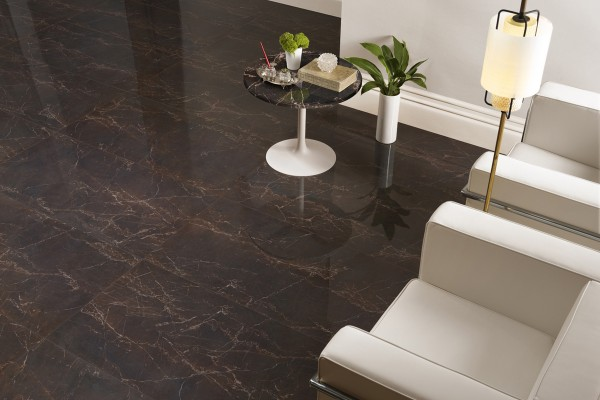 Glänzender marmor braunes melange