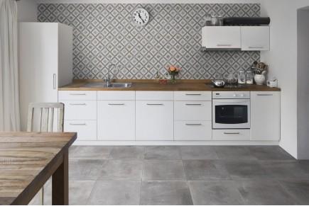 Concrete effect floor grey