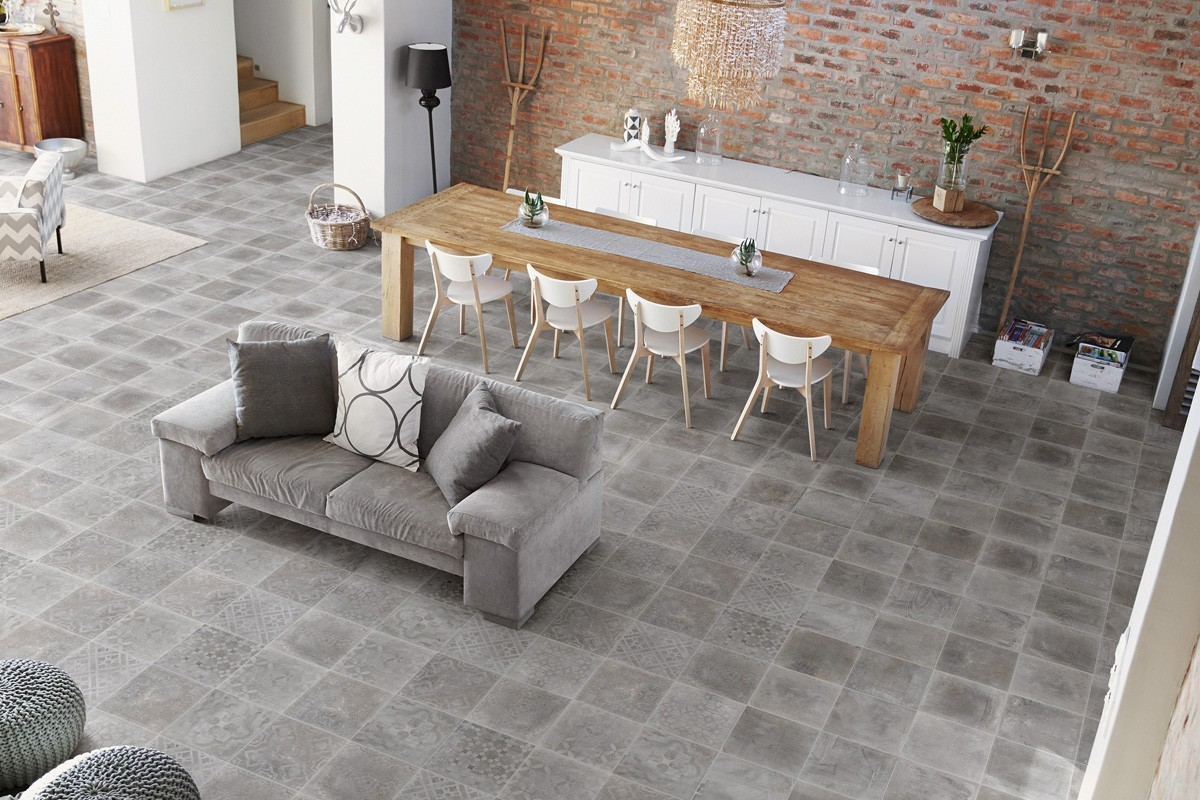 Gres effetto cemento grigio italiangres for Gres effetto cemento