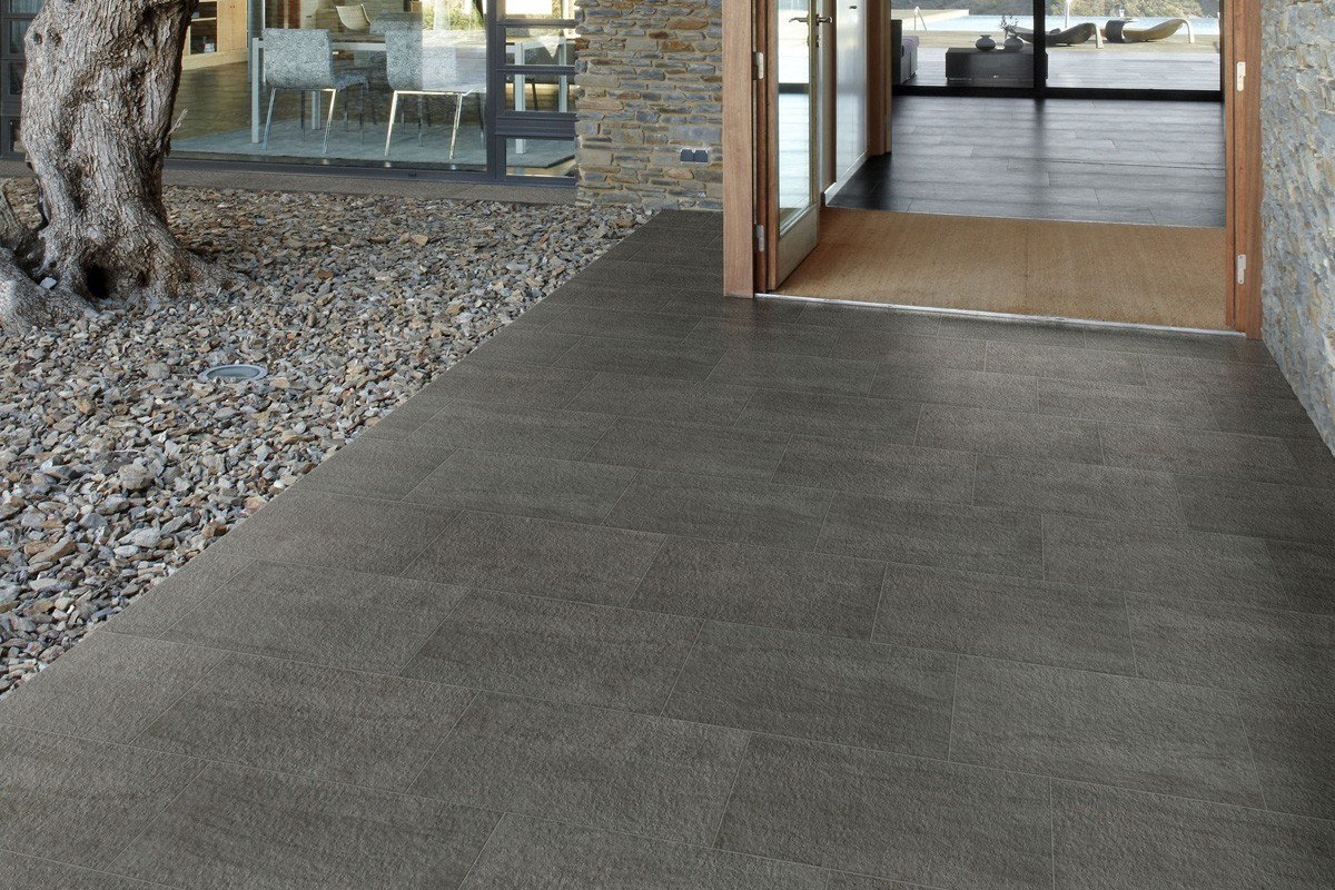 Stone effect tiles grey ka 7013 30x30 roc for Carrelage 30x30 gris