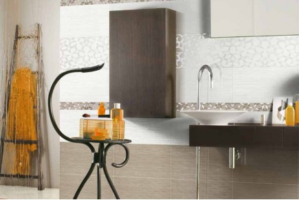 Double-fired wall tiles - Dove-grey