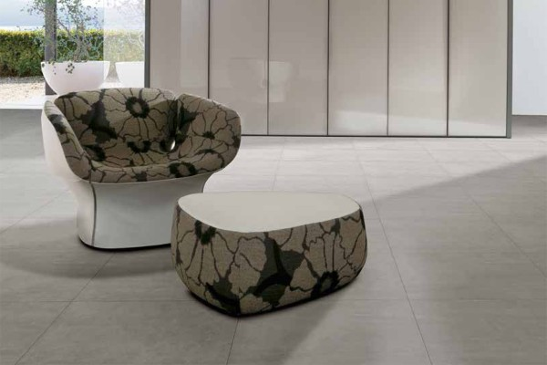 Concrete effect floor tiles - Grey