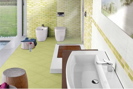 Double-fired wall tiles - Green