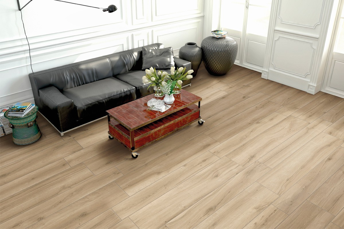 Carrelage imitation parquet couleur miel br 8000 20x120 - Carrelage imitation parquet salon ...