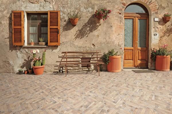 Rustical effect tiles - Cream