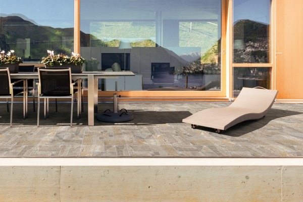 Stone effect tiles - cotto
