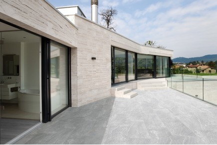 Stone effect tiles - light grey