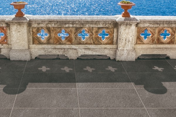Stone effect tiles - olive grey