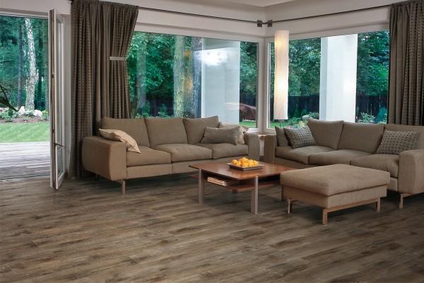 Wood effect floor tiles - red cherry