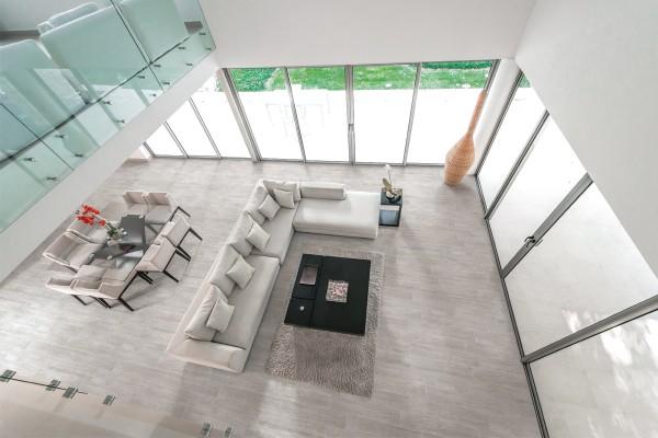 Wood effect floor tiles grey