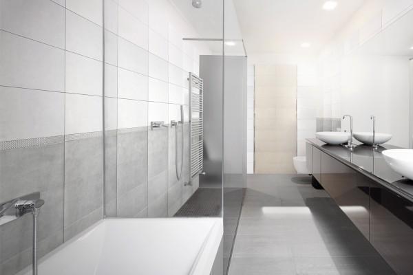 Concrete effect floor tiles - Light grey