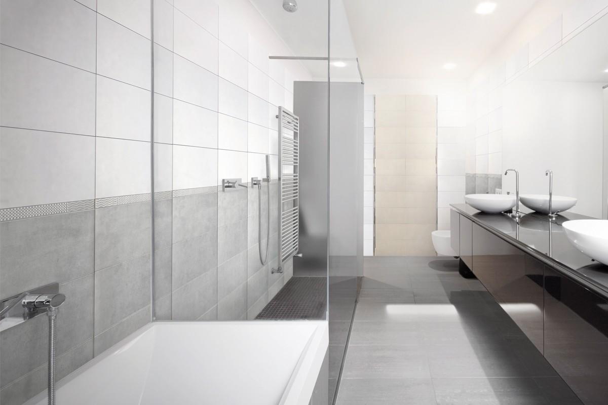 Concrete effect floor tiles - Light grey - ItalianGres