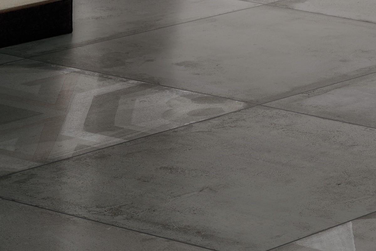 Concrete Effect Floor Tiles Black Italiangres