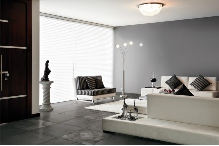 Concrete effect floor tiles - Black