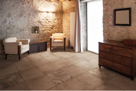 Concrete effect floor tiles - Marsala