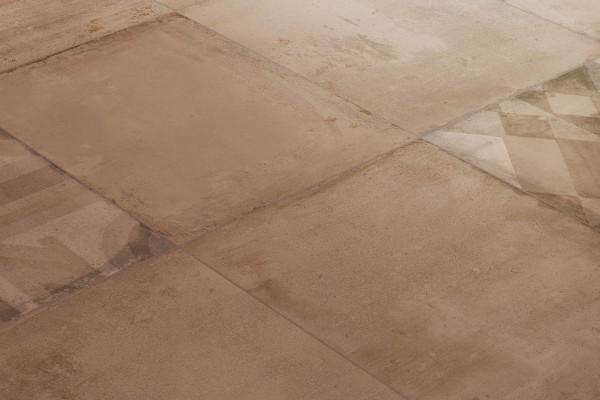 Concrete effect floor tiles - Marsala