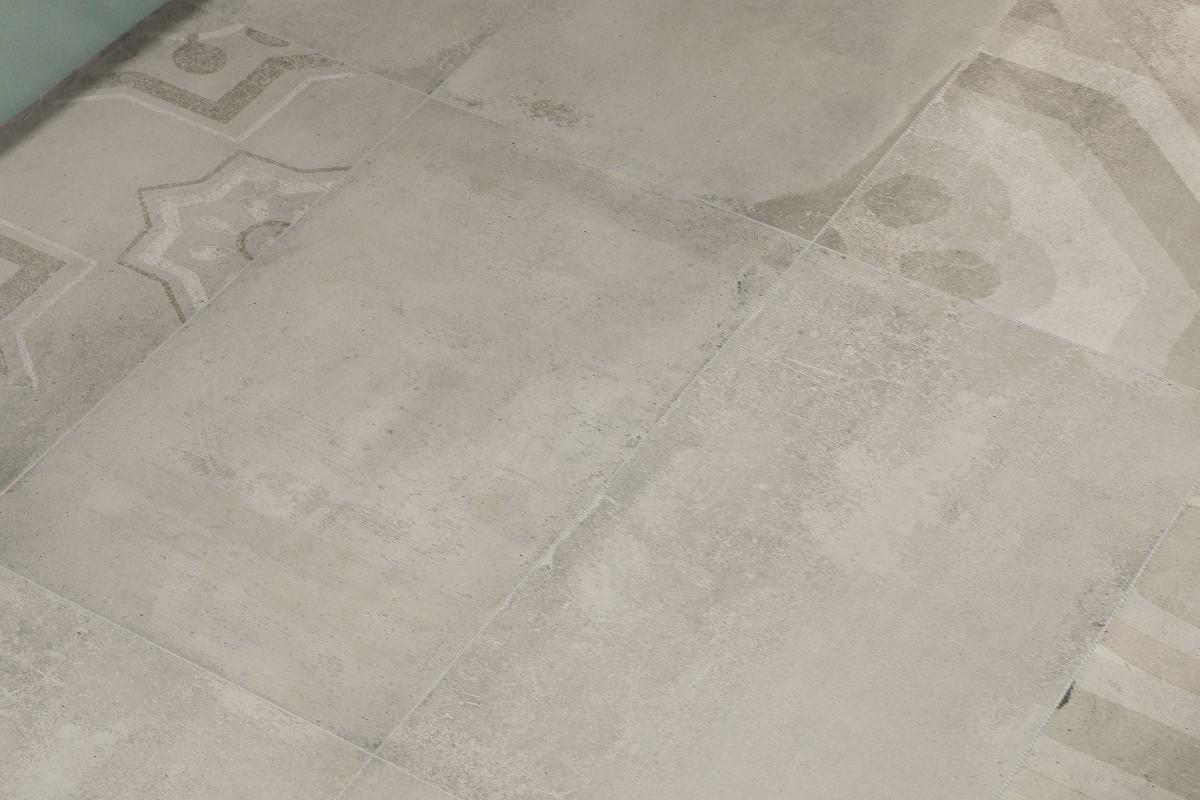 Gres porcellanato effetto cemento tortora fr