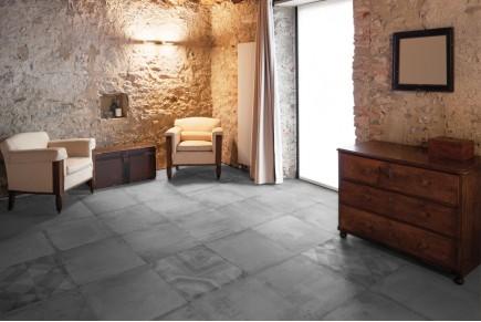Concrete effect floor tiles - sand