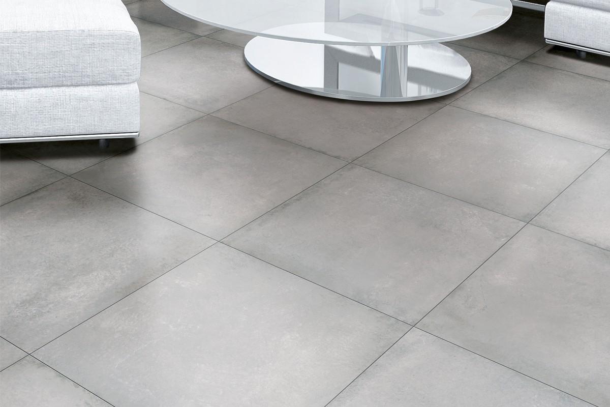 Carrelage Gres Cerame Imitation Ciment grès cérame effet ciment gris moyen