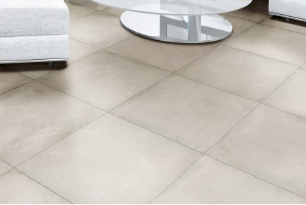 Concrete effect floor tiles - Beige
