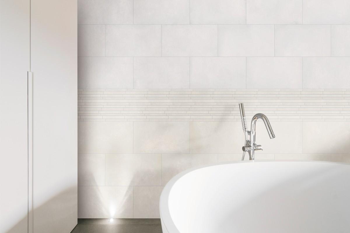 Concrete effect floor tiles - White - ItalianGres