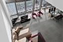 Concrete effect floor tiles - Lead