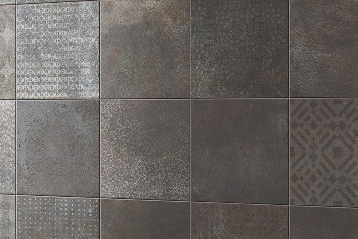 Gr s effet terre cuite gris sombre ri 1105 10x10 for Glissance carrelage