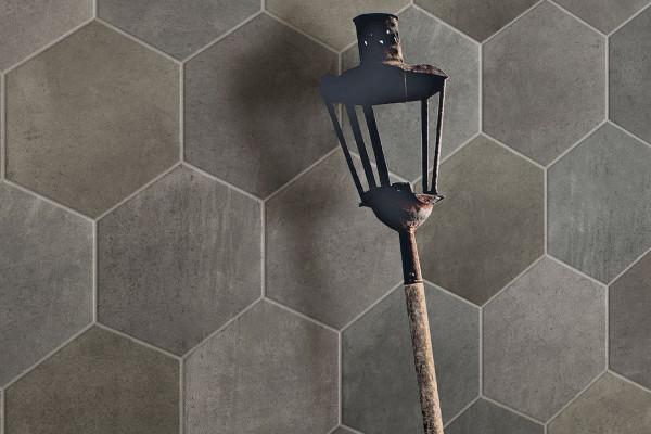 Terracotta effect floor tiles - Dark grey
