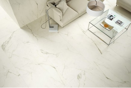 Coverlam effet marbre statuario - naturel