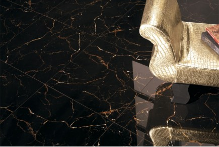Marble effect tiles - Dark brown