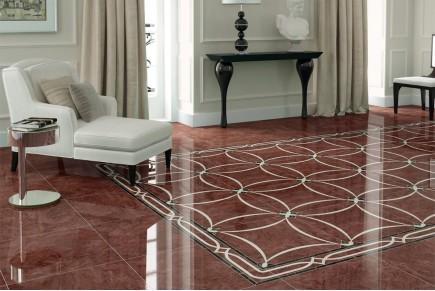 Marble effect tiles - Bordeaux