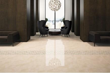 Gres porcellanato effetto marmo crema