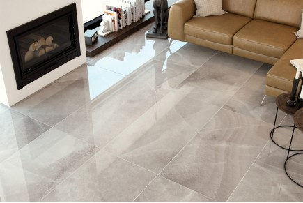Grès cérame effet marbre agathe grise