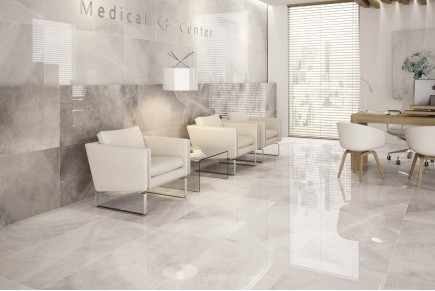 Marble effect tiles - White agatha