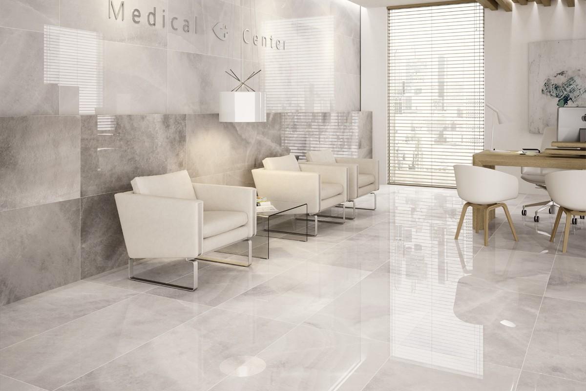 Gres porcellanato effetto marmo agata bianco pa 1201 59x119 luc - Piastrelle di marmo ...