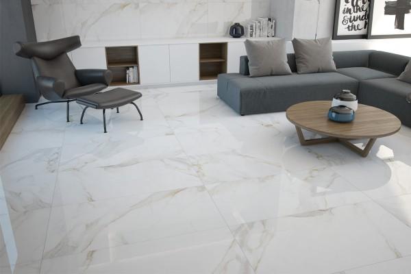 Gres porcellanato effetto marmo calacatta pa 1200 59x59 luc.